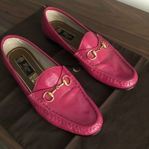 Gucci Hot Pink Patent Leather Loafer